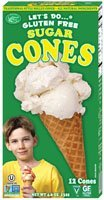 Lets Do Organic [Edwards and Sons] Gluten Free Sugar Ice Cream Cones Are the Top Selling Gluten Free Ice Cream Cone [4 Pack]