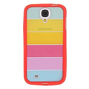 DUR Colorful Rainbow TPU Hybrid Cover for Samsung Galaxy S4 , Blue
