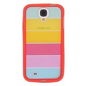 CECT STOCK Cubierta colorida Hybrid Rainbow TPU para Samsung Galaxy S4 , Rosado