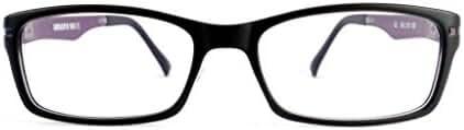 Retro Eyeworks Duraspex 102 Bifocal Reading Glasses 51-19 MM 3.0x Black W/ Purple Temple