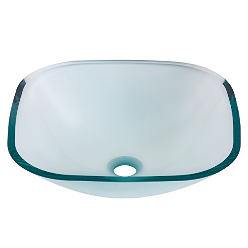 Bathroom Square Glass Vessel - Novatto PIAZZA Glass Vessel Bathroom Sink