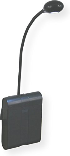 AmpliVox S1135 LED Gooseneck Lectern Light, Black, 3 Power Levels, Gripper Pad Holds Firmly On Smooth Surfaces, Flexible Gooseneck, Full-Spectrum Light Resembles Daylight,Travel Case Included by Amplivox Portable Sound Systems