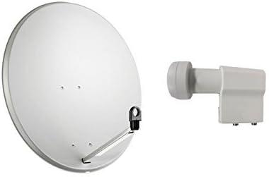 Kit de antena parabólica satelital de 60 cm con iluminador ...