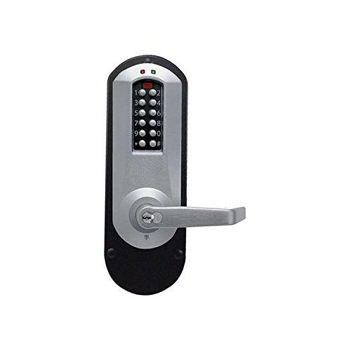 Kaba E-Plex E5010MWL Lever Electronic Push Button Lock Key Bypass Rim Exit Trim