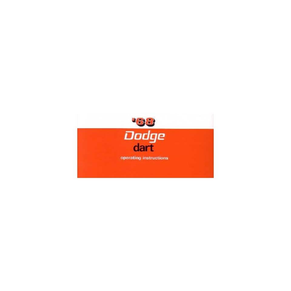 1968 DODGE DART Owners Manual User Guide