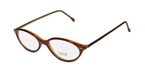United Colors Of Benetton 350 For Ladies/Women Cat Eye Full-Rim Shape Durable Small Fit Girls Eyeglasses/Spectacles (46-16-135, Havana Cream) (Designer Cat-eye-brillen)