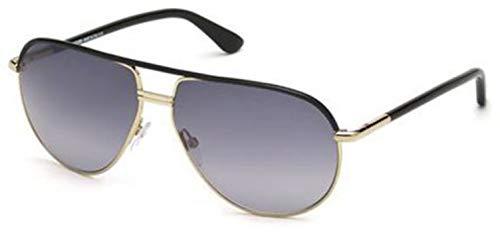 Tom Ford FT 0285/S Cole Sunglasses 01B Shiny Gold Black/Grey Gradient Smoke 61 ()