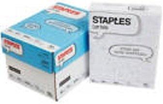 Staples Copy Paper, Density, 92 Bright White, Acid-Free, 2000 Sheet Case of 4 Reams, 20 lb.