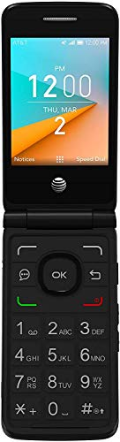 Alcatel Cingular Flip 2 4G LTE FlipPhone Bluetooth WiFi MP3 Camera Good for Elderly - GSM Unlocked (4 GB + 32 GB SD Bundle)