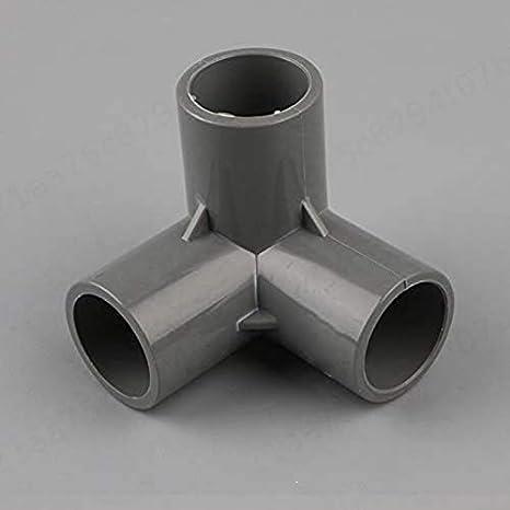 a 3 Vie LNIEGE Connettori a T in PVC da 20 mm per irrigazione Giardino Bianco 16 Pezzi