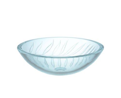 (Xylem GV101SFV Vine Pattern Ultraglass Sink, Clear/Frosted)