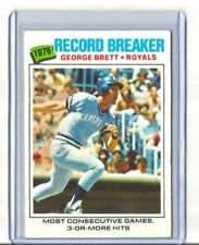 1977 Topps George Brett (Record Breaker) Baseball Card #231