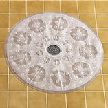 Round Shower Mat Clear Bath