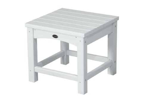 POLYWOOD CLT1818WH Club 18 Side Table, White