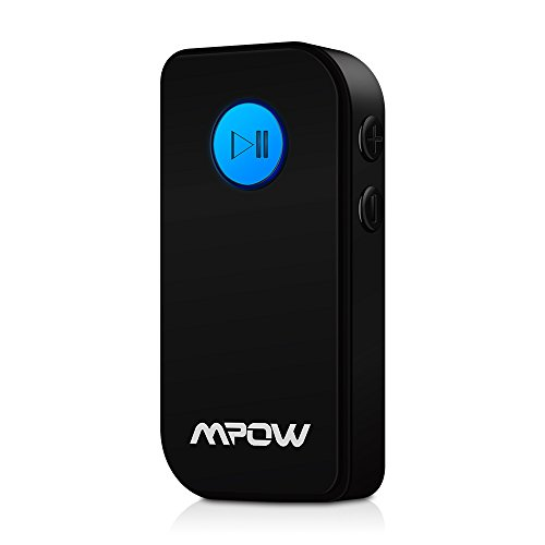 MPOW Portable Bluetooth 3.0 Audio Music Streaming Receiver Adapter with Hands Free Calling and 3.5 mm Stereo...