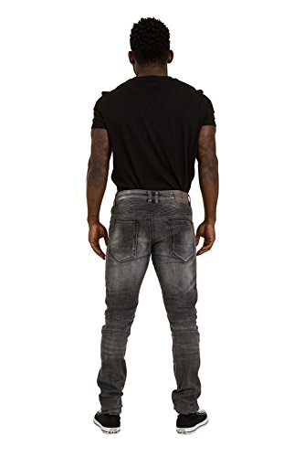 Herren Skinny Jeans - Grau Schmal geschnittene Jeans LEONGREY
