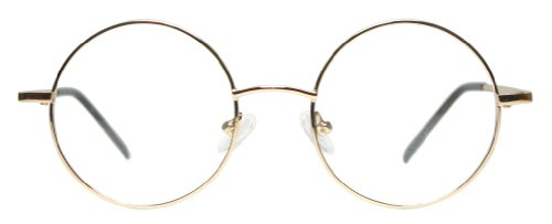 ad2636cb23 Full Rim Metal Round Eyeglasses Frame (Medium Size) - Gold - Import ...