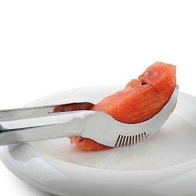 Aqtus Innovative Watermelon Cantaloupe Slicer Stainless Steel Knife Corer Fruit Vegetable Tools Kitchen Gadgets Melon Slicer Cutter Melon Fruit Dig Corer