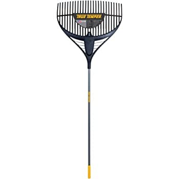 """True Temper 2919200 64"""" Collector Series Poly Leaf Rake with 26"""" Steel Handle"""