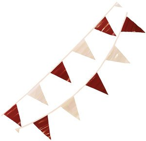 4'' x 17'' Red/White Vinyl Pennant by CORTINA SAFETY PRODUCTS
