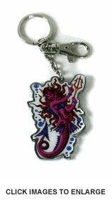 Ed Hardy Evil Mermaid Chrome Keychain