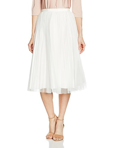 - Adrianna Papell Women's Tulle Pleated Skirt (4, Ivory)