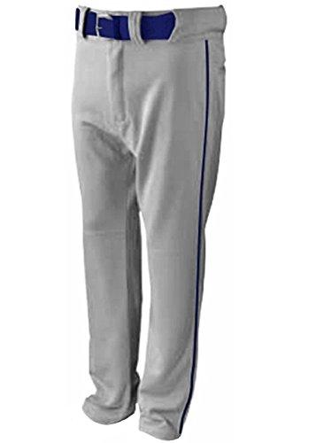 New Martin Baseball Softball Grey Belt Loop Pants w Navy Piping Youth XS-XL (YS)