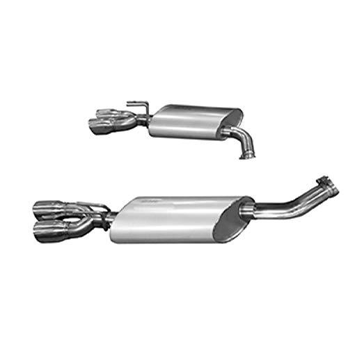 (Kooks Custom Headers 25106100 Axle Back Exhaust System OEM x 3 in. Incl. Kooks Polished Oval Race Mufflers/Quad 3 in. Slash Cut Polished Tips Axle Back Exhaust System)