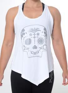 Regata Mexican Skull - Branca - Black Skull - M