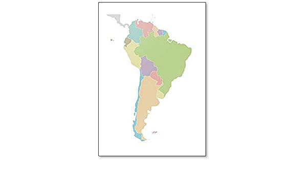 Amazon.com: Political Blank South America Map Fridge Magnet ...