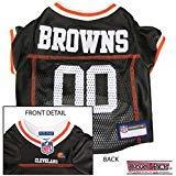 CLEVELAND BROWNS Dog Mesh Jersey ALL SIZES Licensed NFL (Medium) -