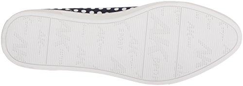 Fabric Navy Chaussures white Femmes Anne Klein Plates Rxqw8q0a