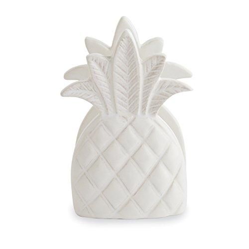 Ceramic Napkin Holder - Mud Pie 4265474 Sponge Holder, Pineapple