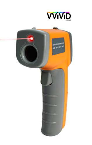 VViViD Infrared Digital Thermometer Gun with Laser Sight and LED Display Screen for Professional Vinyl Wraps by VViViD (Image #3)