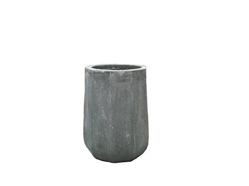 Concrete Round Planter - Kasa Modern Design Modern Round Concrete Pot Planter, 20