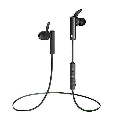 Large Product Image of Bluetooth Headphones, TaoTronics Wireless 4.2 Magnetic Earbuds, Snug Fit for Sports with Built in Mic TT-BH07 Green(IPX6 Waterproof, aptX Stereo, 6 Hours Playtime, cVc 6.0 Noise Cancelling Microphone)