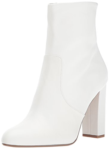 Women's Madden White Editor Leather Steve Boot Ankle S15gaxqw