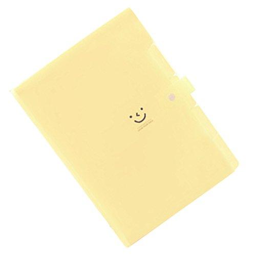 Documento Bolsa - SODIAL (R) Kawaii foldersstationery carpeta archivo carpeta 5layers archivadores anillos A4 documento bolsa oficina carpetas £ š amarillo ...