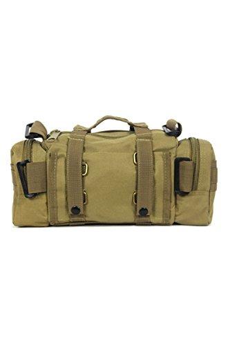 Uomo Zaino Sportivo - SODIAL(R) Zaino Sportivo Militare, Multi-purpose Bag, Colore-Fango