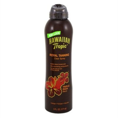 Hawaiian Tropic Royal Tanning Cont Spray Oil 6 Ounce Triple Rich (177ml) (3 Pack)