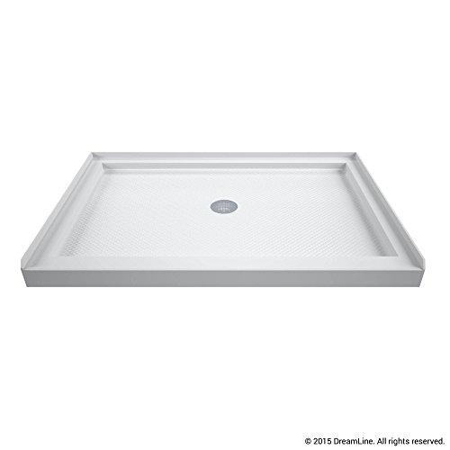 dreamline dlt1134420 single threshold shower center drain base white