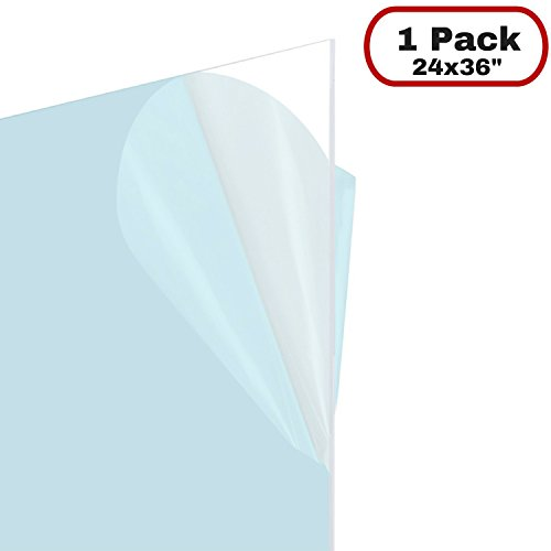 Icona Bay Flexible Clear Plastic Sheet (24x36 inch, 1 Pack, 0.03