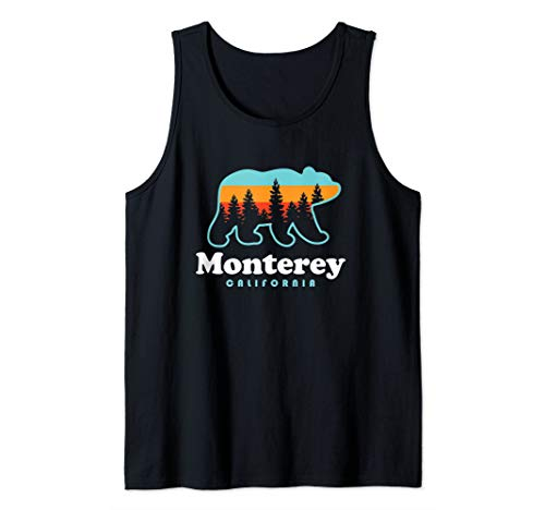 Monterey California - Bear Monterey Tank Top