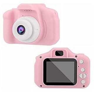 Children's Digital Camera 2.0 LCD Mini Camera HD 1080P Children's Sports Camera - Digital Cameras Toys - Rechargeable Camera Shockproof for Kids Toddler Indoor Outdoor Travel (Pink)