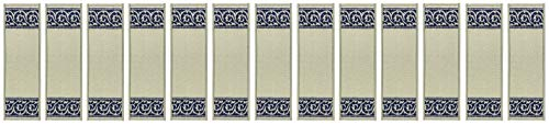 - Stair Treads Skid Slip Resistant Backing Indoor Carpet Stair Treads Scroll Border Design 8 ½ inch x 26 ¼ inch (Set of 13, Grey Navy Blue)