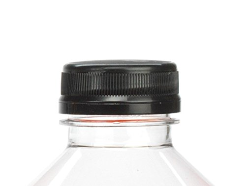 (36) Black Juice Bottle Caps/Lids 38mm with Liner and Tamper Evident Ring (Pack of 36)