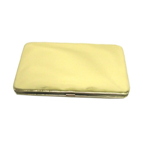 Fashion Quality Metallic Leather Framed Flat Wallet Clutch (Leather Framed Clutch Wallet)
