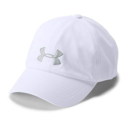White Womens Cap - Under Armour Women's Renegade Cap,White (100)/Elemental,One Size Fits All