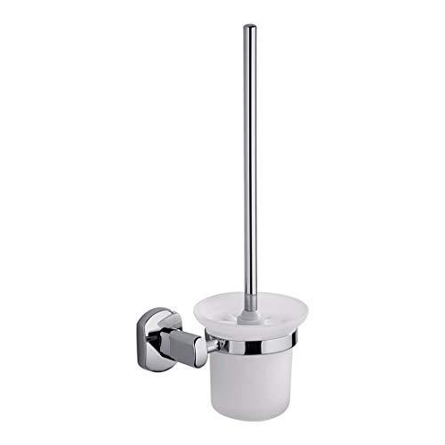 Chrome Oval Pendant - PQPQPQ Modern European Alloy Chrome Plated Oval Base, Bathroom Pendant Set, Towel bar, Toilet Paper Rack,Toilet Brush