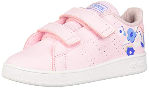 adidas Baby Advantage Sneaker Clear Pink/Real Blue, 8K M US Toddler